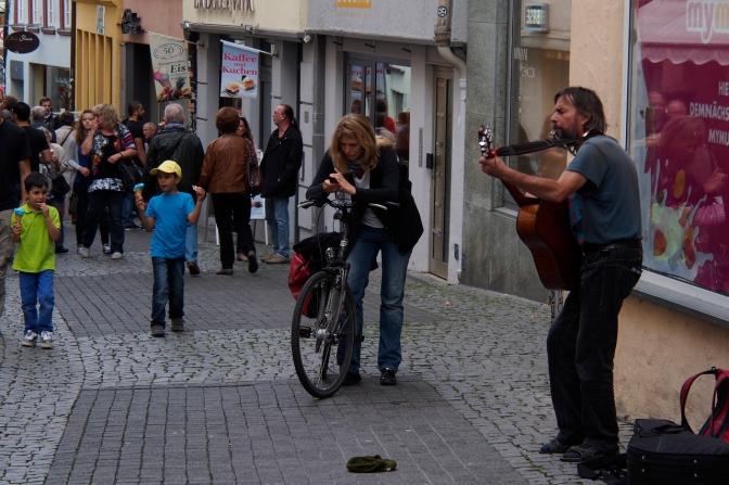 Tübingen street life.