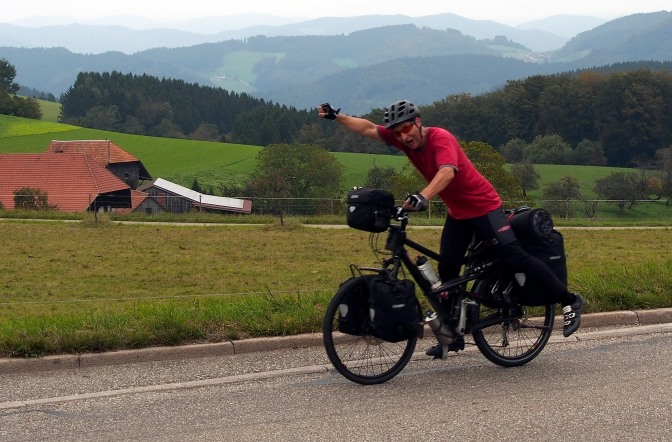 SuperTom crossing the Black Forest.
