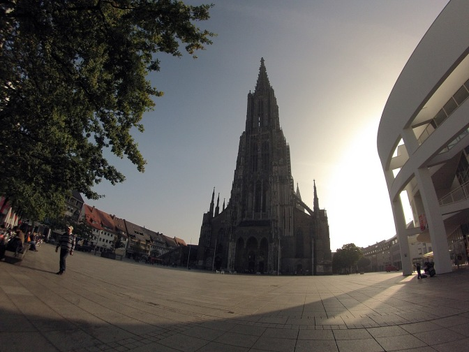 The Ulm Minster, the tallest church in the world at 161.5 metres. http://en.wikipedia.org/wiki/Ulm_Minster