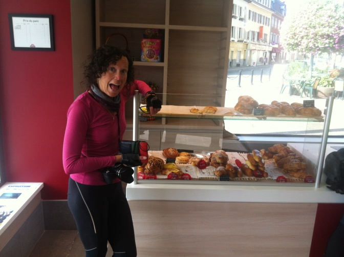 Jan is excited about the baked goods.
