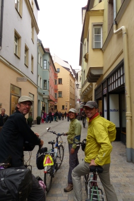 Paul with Katja and Yves (from Canmore) in Regensburg.