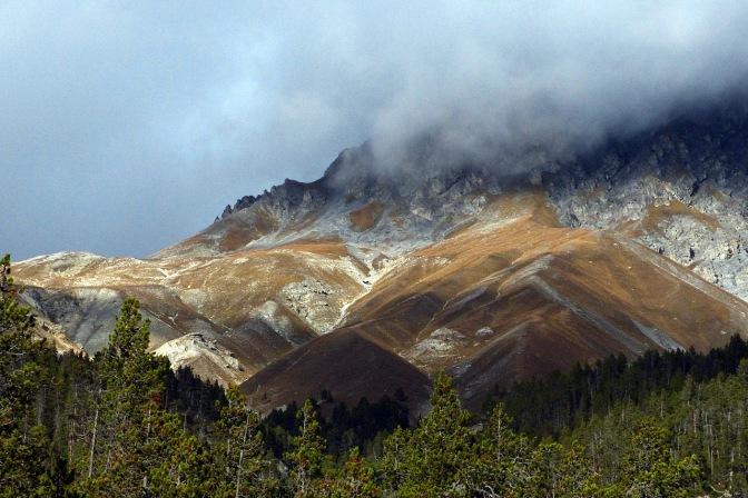 The Alps near Pass dal Fuorn.