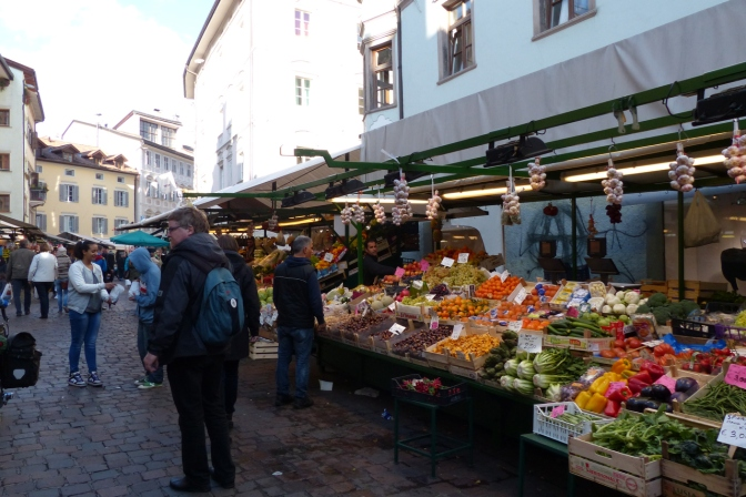 The market in Bolzano.
