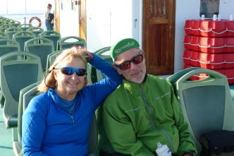 Ivona and Gary on the ferry to Punta Sabbioni.