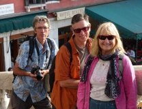 Paul, Gary and Ivona on Rialto Bridge.