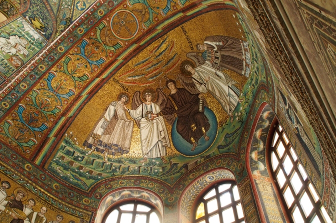 Mosaics in Ravenna Cathedral.