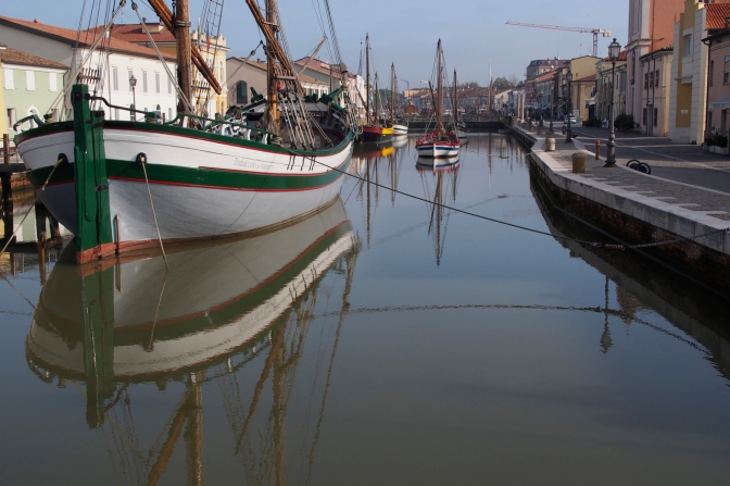 Cesenatico harbour.