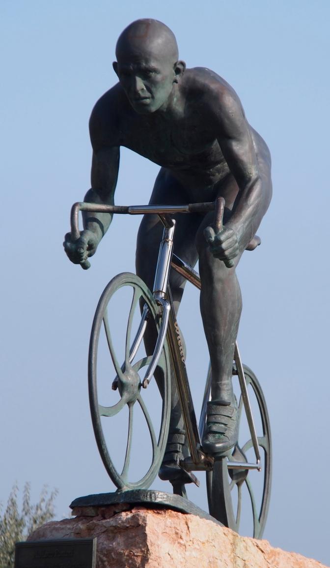 Il Pirata, Marco Pantani statue in Cesenatico.