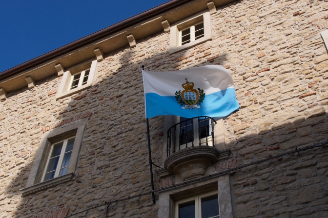 The flag of the Republic of San Marino.