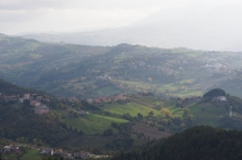 The country side around San Marino.