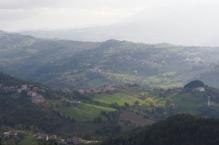 The country side around San Marino.