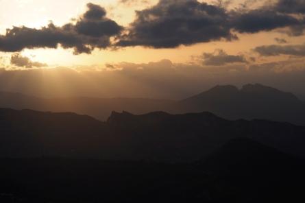 Sunset from San Marino.