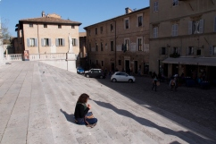 The palace steps in Urbino.