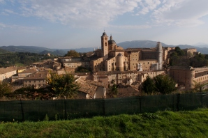 Urbino seen from Parco della Resistenza.