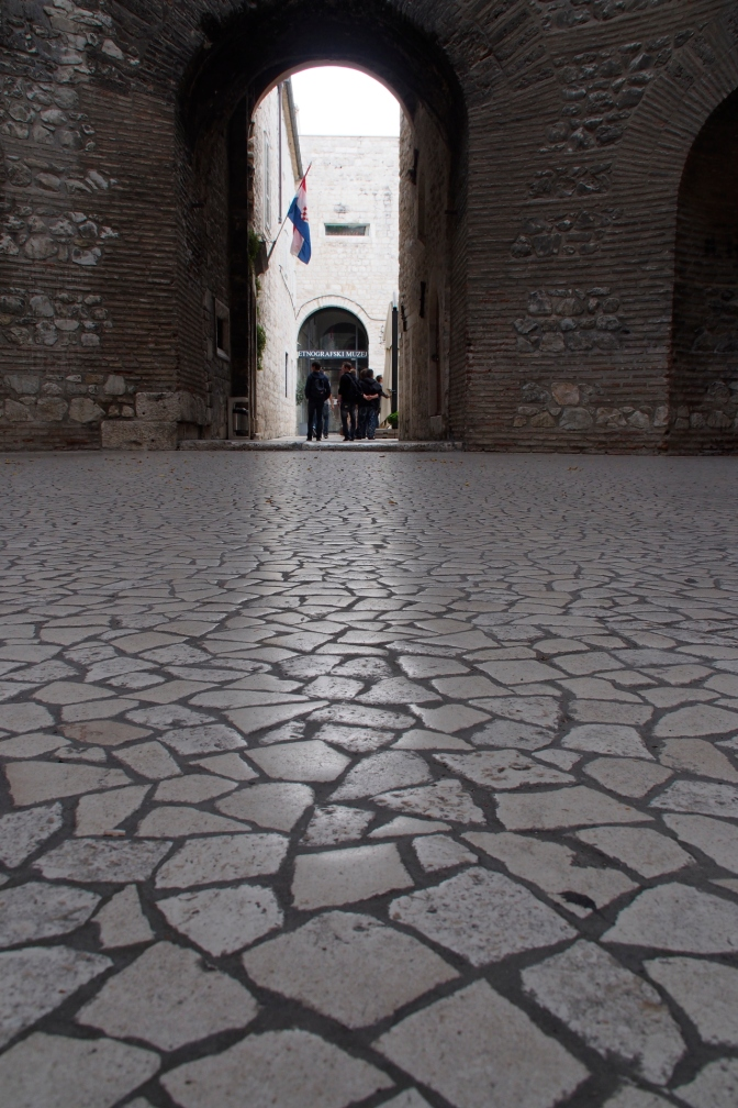 Floor tile in the Diocletian Palace.