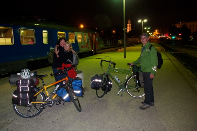 Saying farewell to Ivona and Gary as they take the overnight train to Vienna.