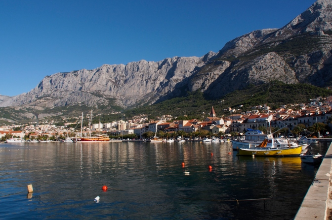 Makarska harbour.