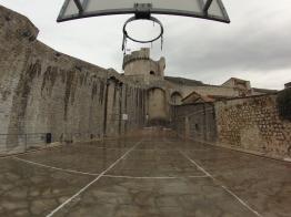 Basketball court in Dubrovnik.