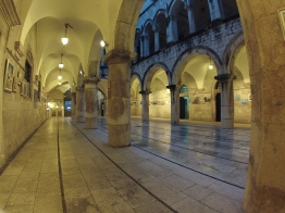 Looking out from the Rector's Palace in Dubrovnik.