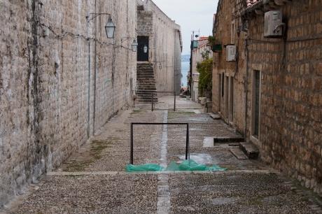 Street hockey in Dubrovnik.
