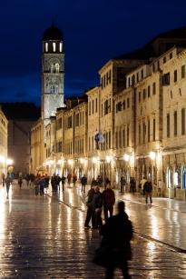Stradun, the main street, in Dubrovnik.