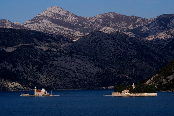Monastery on two islands in Kotor Bay.