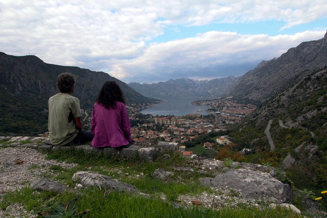 Lunch with a view above Kotor.