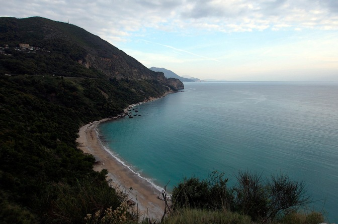 One of the beaches near Budva, Montenegro.