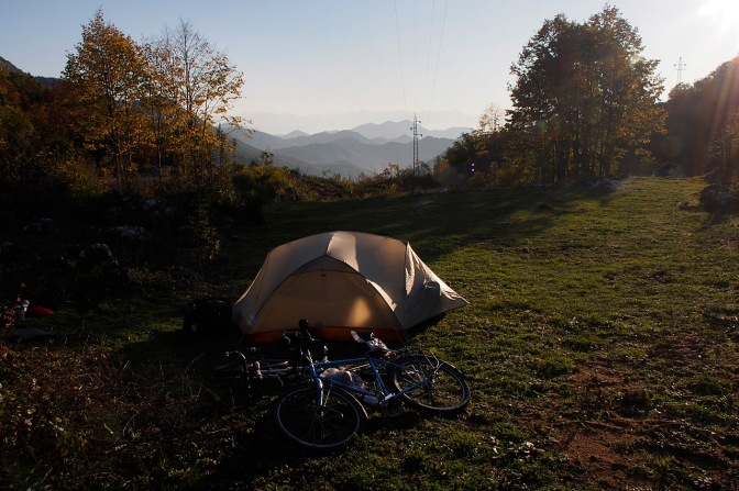 Our camp site on the road to Reijka Crnojevića.