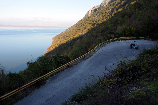 The road out of Virpazar above Shkadar Lake.