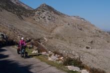 The road through the Sea of Stones above Shkadar Lake.