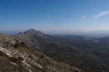 Looking to Albania from the ridge above Shkadar Lake.