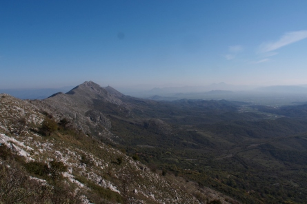 Looking to Albania from the ridge above Shkadar Lake.