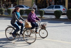 Cyclists in Shkodra.