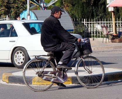Cyclist in Shkodra.