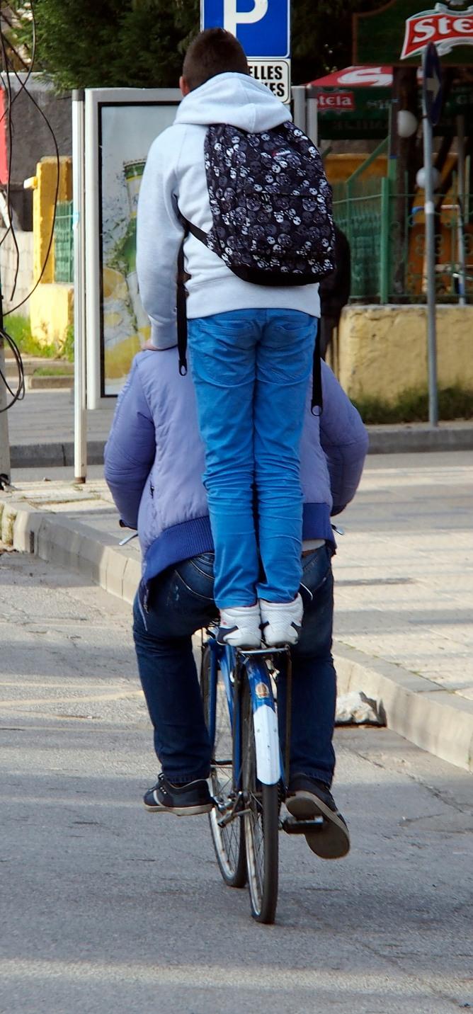 Shkodra cycling acrobats.