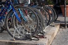 Shkodra bicycle lock-up.