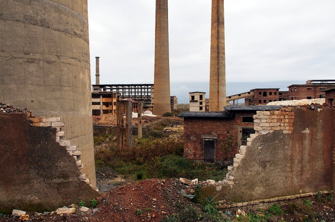Crumbing factory south of Shkodra.