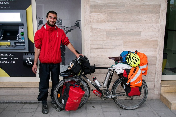 Alex with his loaded Long Haul Trucker.