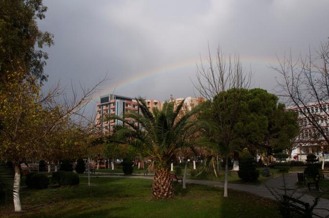 Rainbow in Lushnje.