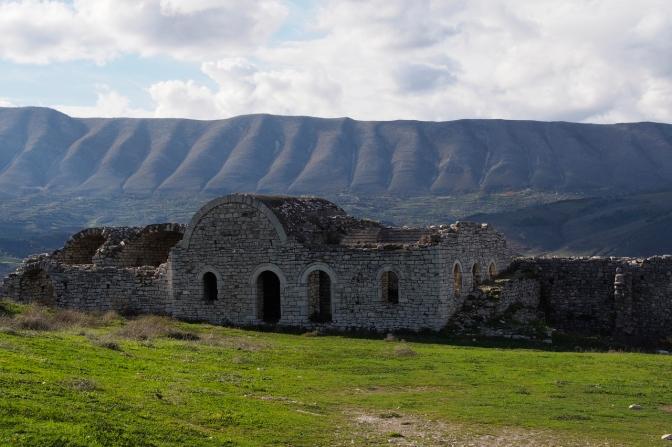 The castle above Berat.