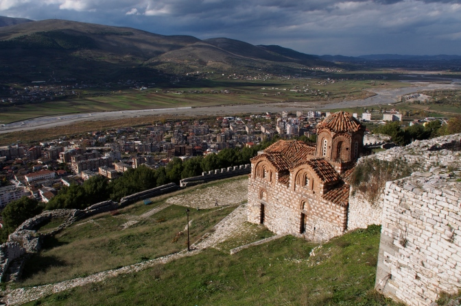 A 13th century Byzantine church in the castle above Berat.