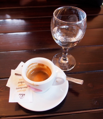 My new hobby: espresso and a shot of Raki.