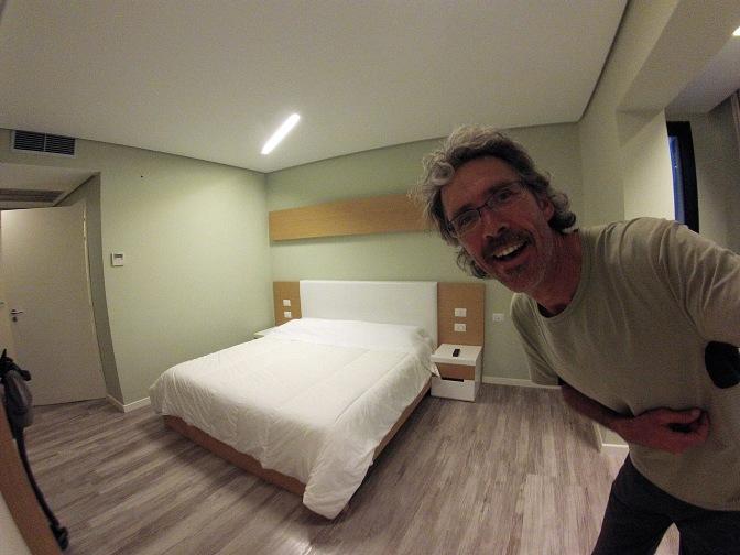 Our room in Hotel Bologna in Vlor'ë