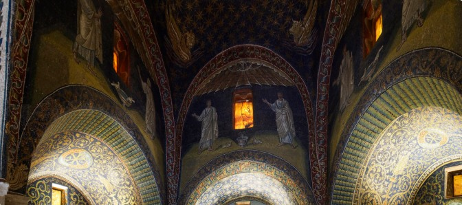 Mosaics in a mausoleum in Ravenna.