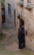 A kiss in Urbino.