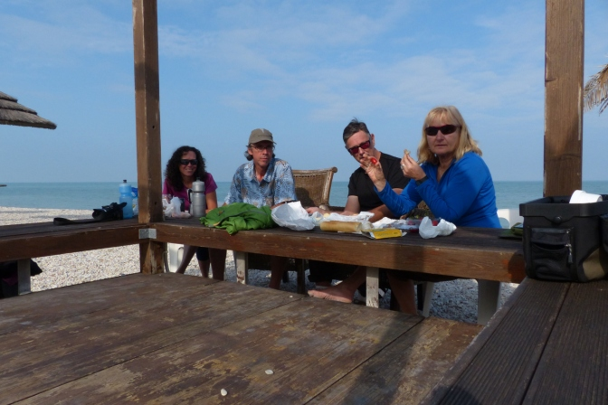 Lunch on the beach near Ancona.