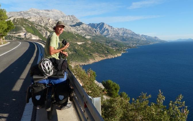 Paul along the road near Makarska.