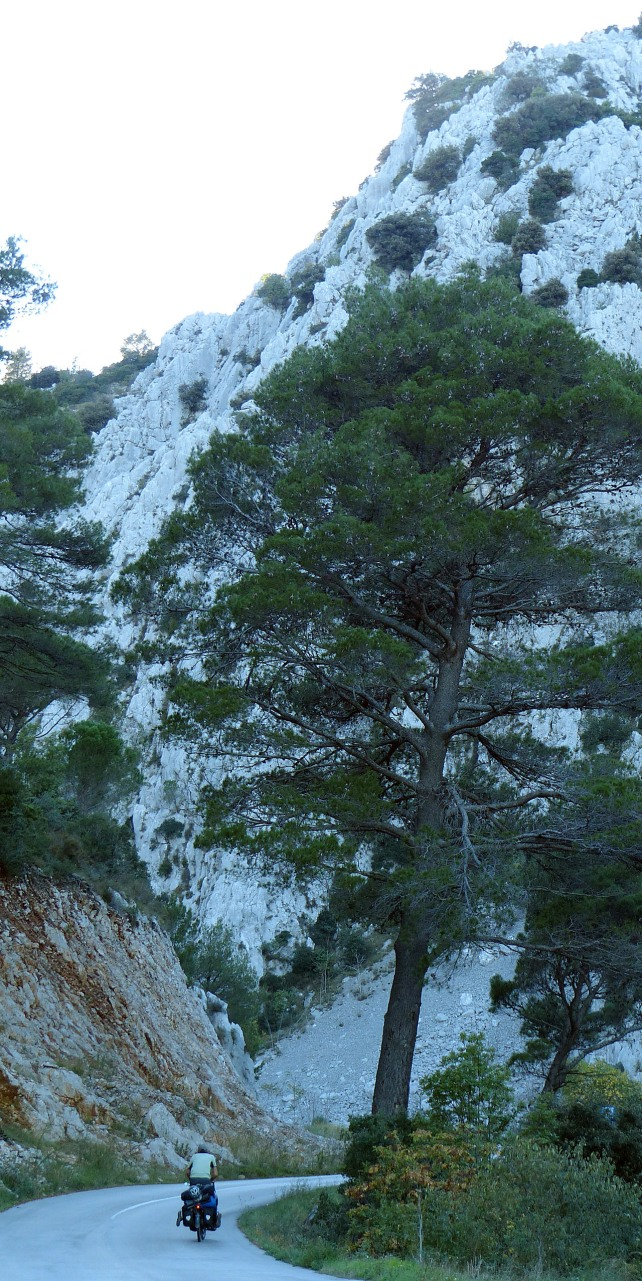 Paul climbing the pass to Orebić