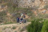 Paul finally pushing his bike.